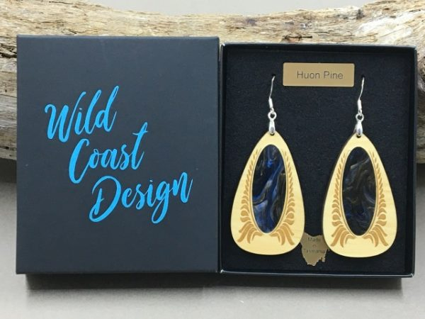Huon Pine Colour Earrings