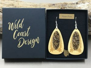 Huon Pine Colour Earrings