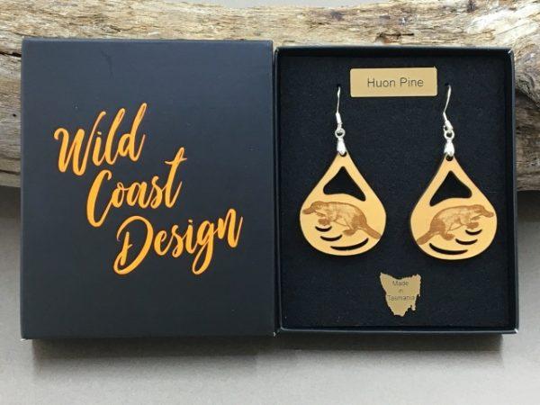 Huon Pine Platypus Earring