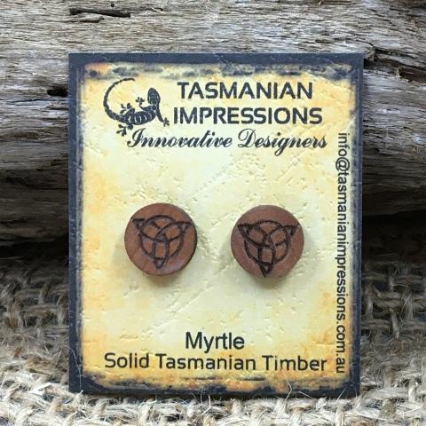Myrtle timber stud earrings